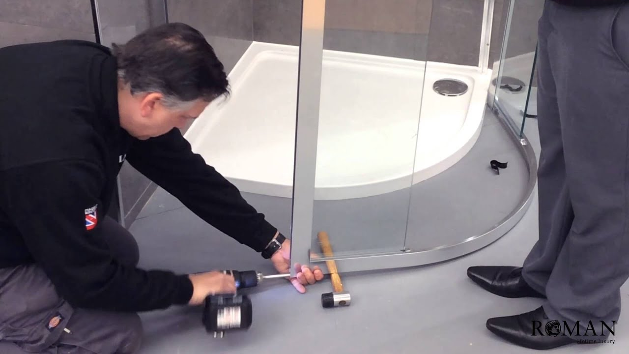 tolóajtós zuhanykabin beszerelése