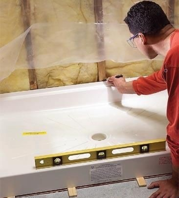 zuhanytálca beépítése