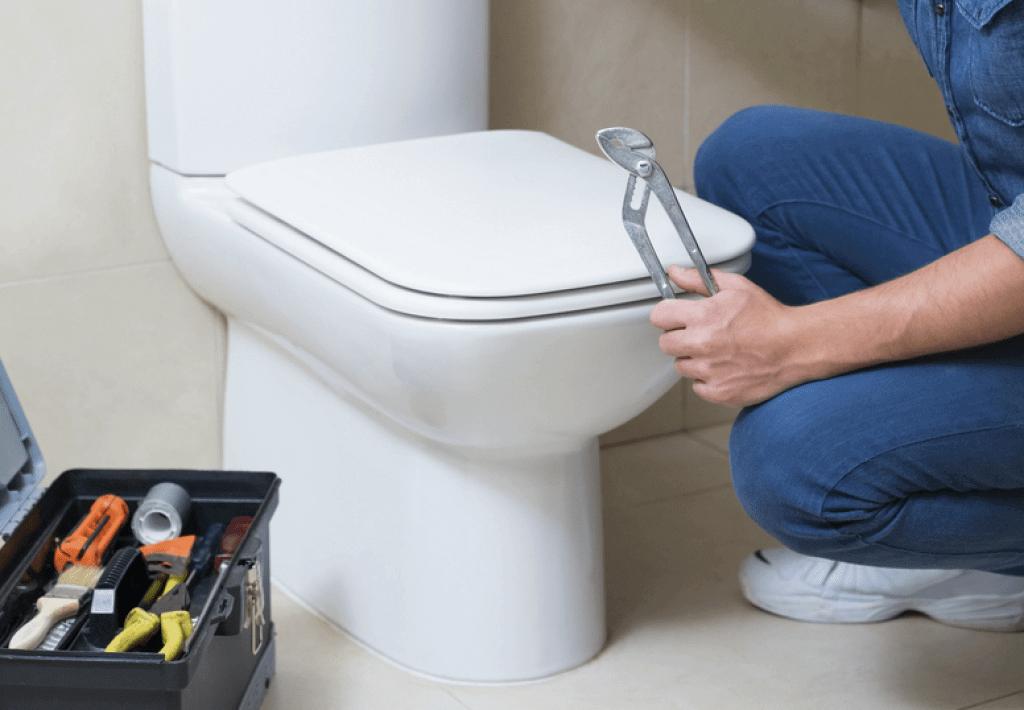 wc csésze lerakása