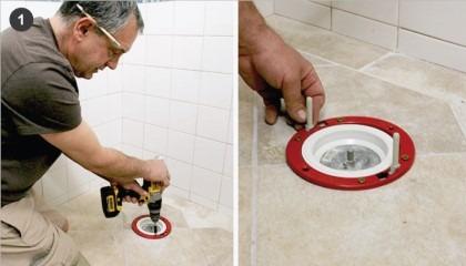 ültető gumi alsó kifolyású wc csésze beépítése